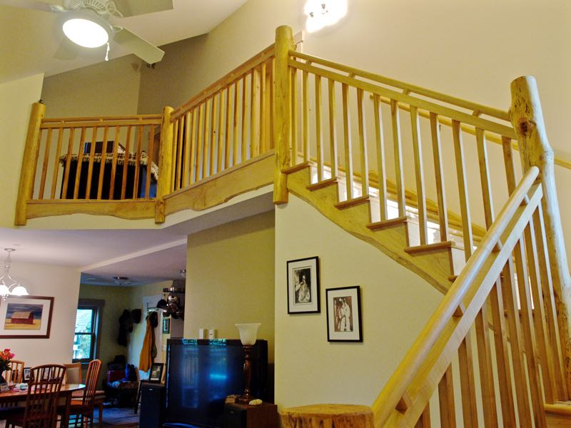 Rustic stair and railing