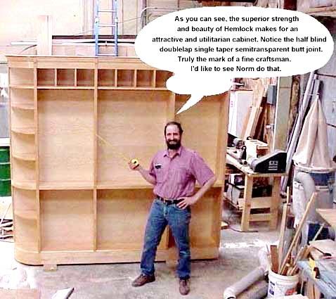 Hemlock bookcase