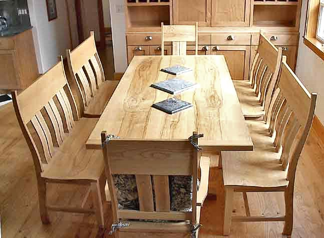 9-foot dining table