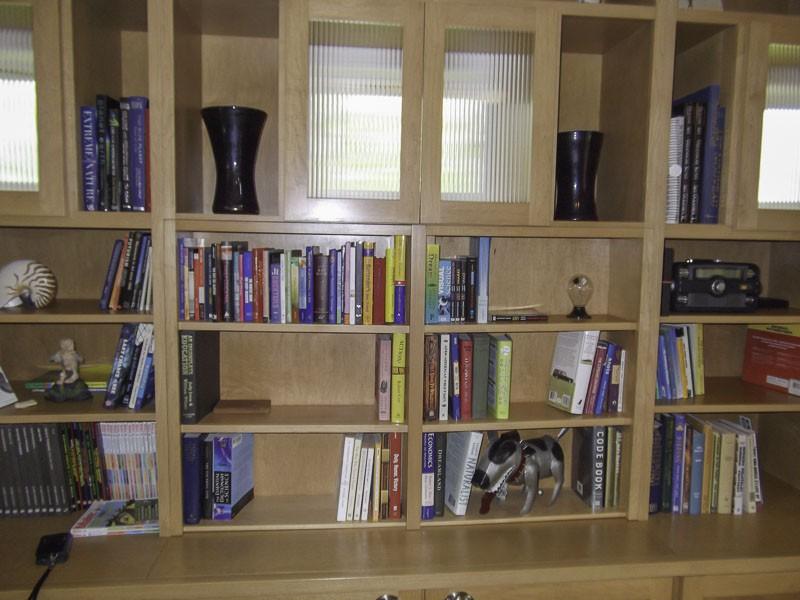 Bookshelf entertainment center